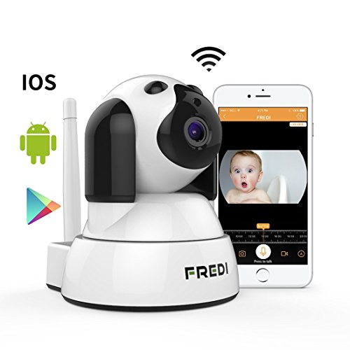 Wireless Wifi ip Camera FREDI 720P HD Surveillance Security Baby Monitor Camera With Two-Way Talking,Infrared Night Vision,Pan Tilt,P2P Wps Ir-Cut Nanny Camera Motion Detection