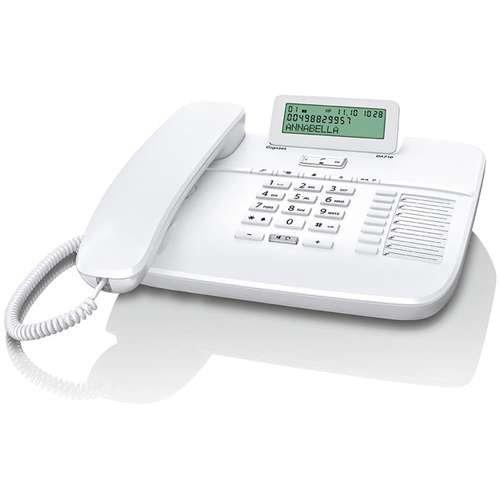 Gigaset DA710 Telefon, Schnurgebundes Telefon / Schnurtelefon, Display, Freisprechen, Stummschaltung, Mute, Analog Telefon, weiß