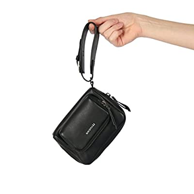 FEYNSINN small wrist bag - woman men's bag JARA | leather bag women´s bag black real leather - mens-carry-all-organiser-bags