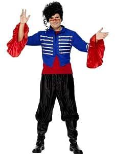 """Adult 1980's Fancy Dress Adam Ant Costume Chest 38""""-40"""", Leg Inseam 32.75"""""""