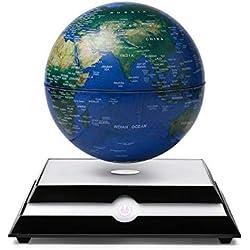 LED Magnetic Levitation World Map Globe, Educational Gift Of Anti-Gravity Earth/Christmas Creative Toy Novelty Gift For Kids Girl Boy