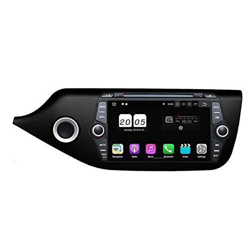 8 Zoll 2 Din Android 8.1 OS Autoradio für Kia Ceed 2014 2015 2016 2017,DAB+ Radio kapazitiver Touchscreen mit Quad Core 1.5G CPU 16G Flash und 2G DDR3 RAM GPS Navi Radio DVD Player 3G/WiFi Aux In - Touchscreen Autoradio 2014