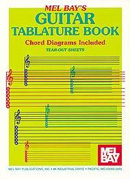 GUITAR TABLATURE BOOK  PARTITURAS PARA GUITARRA  ACORDE DE GUITARRA