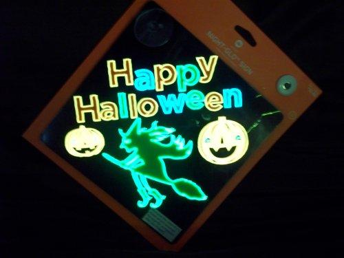 Schild-Hexe-Happy Halloween ()
