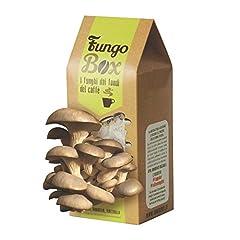 Idea Regalo - FungoBox: il Kit per Coltivare in Casa Funghi Ostrica (Commestibili e Buoni), dai Fondi del Caffè espresso - Un regalo ideale