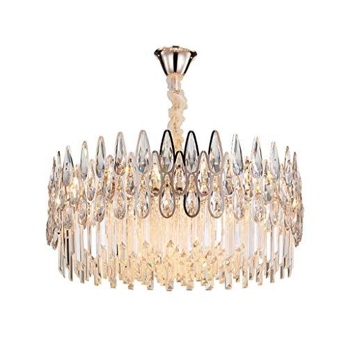 Chandelier-WXP Moderne kristall Beleuchtung, runden Tisch kronleuchter, schmiedeeisen bar deckenleuchte 715-DD (Size : 60cm) - Runde-tisch-kronleuchter