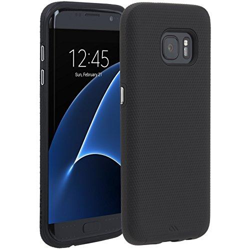Case-Mate Tough Case für Samsung Galaxy S7 edge in schwarz - von Samsung zertifizierte Schutzhülle [Extrem robust | Stoßabsorbierend | Hybrid | Tasten in Metall Optik] - CM034008 - Original Case-mate