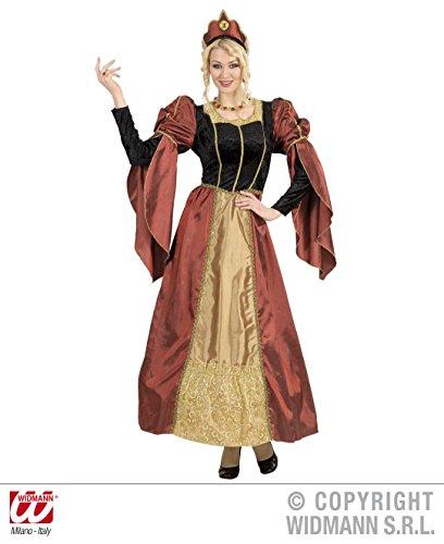 Widmann 72773, Theaterkostüm-Set - Damenkostüm für Fasching oder mittelalterliche Feste Historische Prinzessin, Größe L = 40/42 (Historische Prinzessin Kostüme)