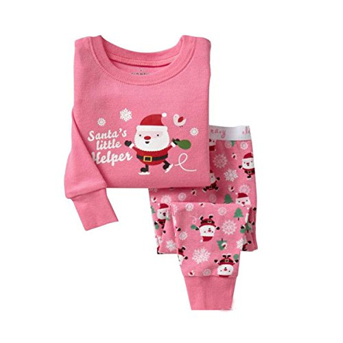 Babyicon Unisex Baby Baumwolle Langarm Pyjama Set Schlafanzüge Nachtwäsche PJS (4T:95-100cm, Santa Claus) (Santa Claus Anzüge Für Verkauf)