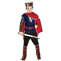 Deluxe Medieval King Boys Fancy Dress Nativity Royal Renaissance Childrens Costume