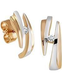 Diamond Line Damen - Ohrstecker 375er Gold 2 Diamanten ca. 0,05 ct.