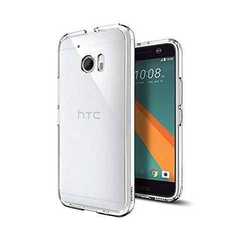 Spigen - Coque HTC 10, [Ultra Hybrid] TPU transparent [Crystal Clear] Cadre PC, Souple, Technologie coussin d'air, Coque bumper HTC 10 2016 (H09CS20277)