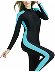 Masterein Femmes à manches longues Combinaisons rembourrées Maillot de bain Costumes de surf Costume de plongée Vêtements de plage