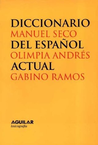 OBRA COMPLETA DICCIONARIO ACTUAL DEL ESPAÑOL 2 TOMOS (Lexicografia Aguilar)