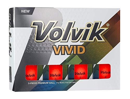 Volvik Vives Balles de Golf, Une Douzaine (2018 Version), Mixte, 0000070, Red, One Dozen