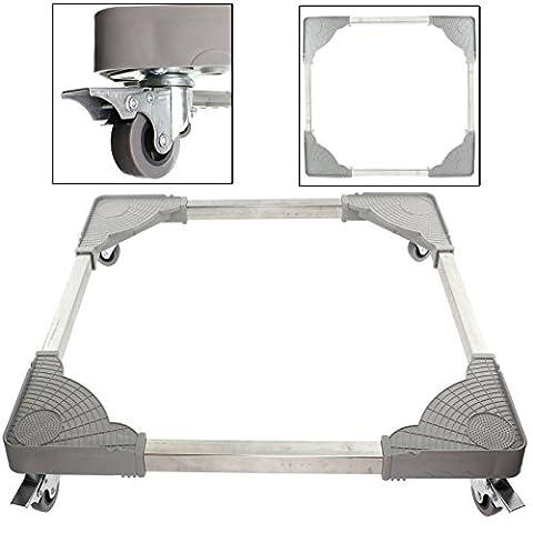 SPARES2GO Universal Appliance Wheels Adjustable Fridge Freezer Trolley (180KG Load)