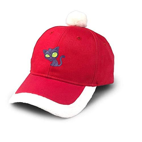 ewretery Santa Baseball Cap,Zombie Kitty Christmas Baseball Cap