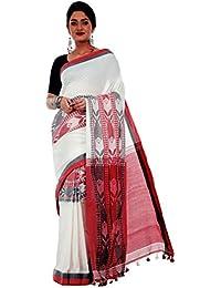 a390f21c9f2424 Avik Creations Women's Kasavu Handloom Khadi Cotton saree White Red Black