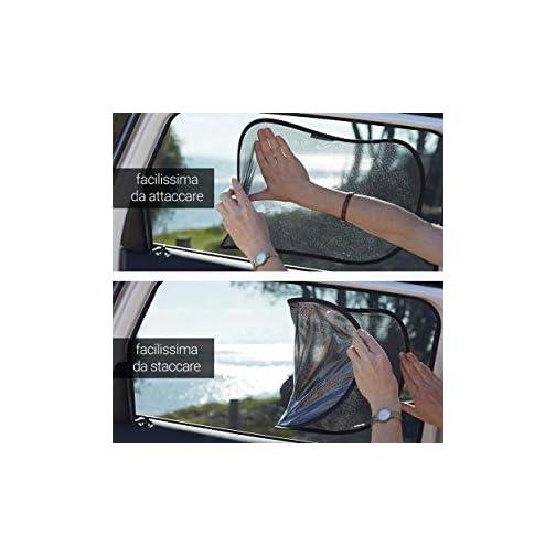 Parasole Auto Bambino Set 2 Tendine 51x31 Cm. Neonato Accessori UV Protezione Adesivi FRANK MORRISON SCF290//73 Tendine Parasole Auto Bambini Accessori Auto Nere Con Animali Regali Divertenti