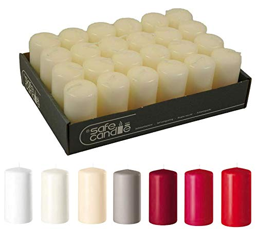 Farbe Top Qualität Weiß Kerzen//Gastro Stumpenkerzen 16 Stück 50 x 40 mm
