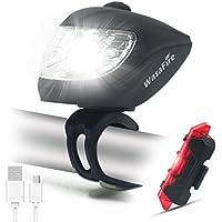 Luces Bicicleta Delantera Linterna Bicicleta Recargable, Agua Resistente Luz LED Bici, Multi-Función LED Linterna con Súper Brillante 500 Lúmens CREE LED para Carretera y Montaña