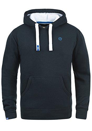 !Solid BennHood Pile Herren Kapuzenpullover Hoodie Sweatshirt mit Teddy-Futter und aus Hochwertiger Baumwollmischung, Größe:M, Farbe:ins Blue P (P1991) (Hoody Block Sweatshirt)