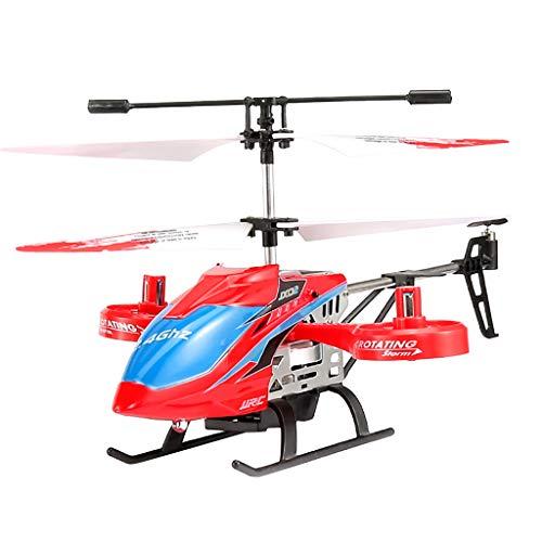 Sisit JX02 2.4G Fernsteuerungsflugzeug Aluminiumlegierung BAU RTF RC Hubschrauber mit Höhenflug Unterstützung Nachtflug ideal für Kinder und Anfänger als Geschenk (Rot)