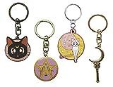 ABYstyle - Sailor Moon - Set di 4 Portachiavi (Luna, Artemis, Spilla, Scettro)