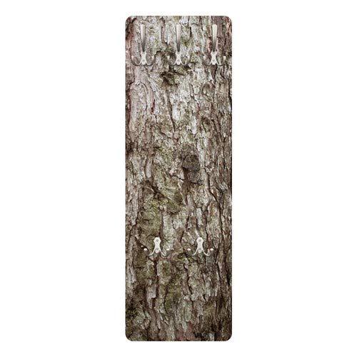 Apalis 73465 Wandgarderobe Nummer YK17 Baumrinde | Design Garderobe Garderobenpaneel Kleiderhaken Flurgarderobe Hakenleiste Holz Standgarderobe Hängegarderobe | 139x46cm