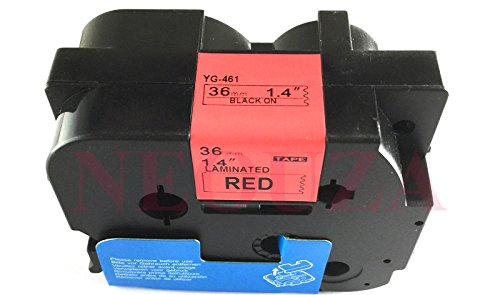 Compatibile per Brother P-Touch TZe TZ Black on red Label tape 6mm 9mm 12mm 18mm 24mm 36mm all size TZe-461 36mm Black/Red