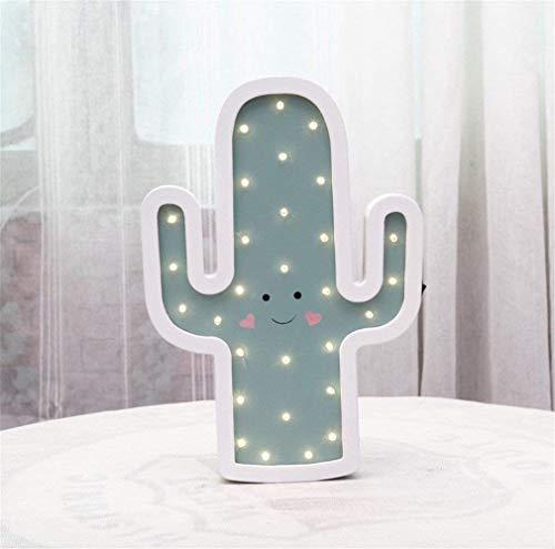 Cactus lampada da tavolo a led lampada da parete a luce notturna lampada creativa on/off ins stile fotografia decorazione regalo (colore : -, dimensione : -)