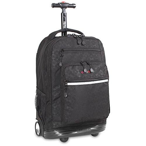 J World New York Sundance Rolling Backpack Rucksack, 20 cm, 38.34 liters, Mehrfarbig (Argyle Black) -