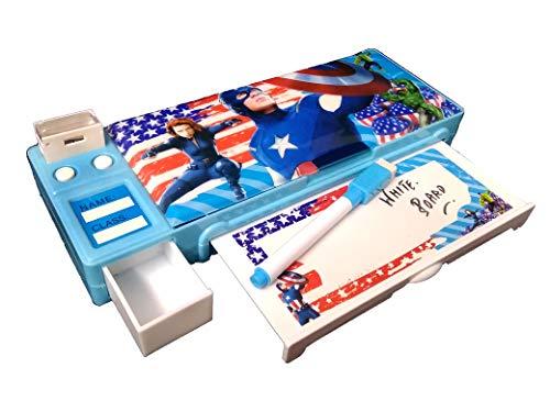 SHREE TECHNESH® Calculator Jumbo Pencil Box & Bullet Erasers for Boys, Giant Size Pencil Box for Kids G233 AVG