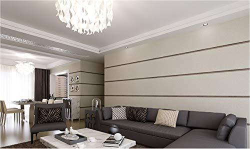 qingci Stereoscopic 3D Wallpaper Schlafzimmer Wohnzimmer Hintergrund Wall Flocked Modern Wall Paper Roll Horizontale Streifen Tapeten Gelb10*53cm - Horizontale Textur Wallpaper