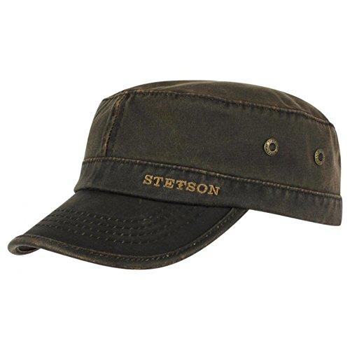 datto-army-cap-stetson-urban-cap-oilskin-xl-60-61-marrone