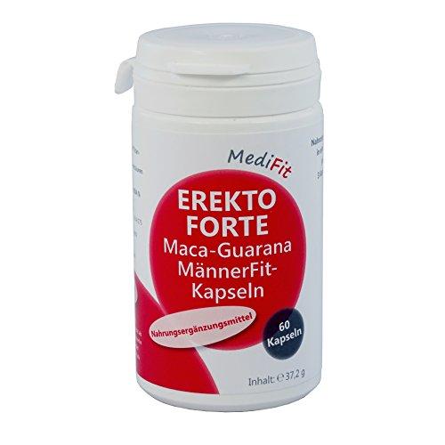 MediFit Erekto Forte Maca-Guarana Männer Fit Kapseln, 1er Pack (1 x 60 Stück)