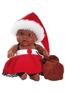 Paola Reina Hebes, muñeca de Vinilo, Vestido en Papá Noel 22 cm (01127)