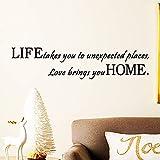 Art nouveau design décoration de la maison amour vous apporter la maison sticker...
