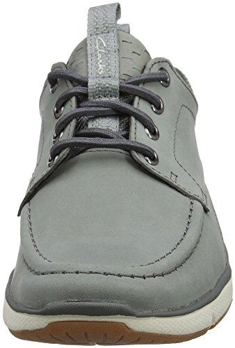 Clarks Orson Bay, Sneakers Basses Homme Gris (Grey Nubuck)
