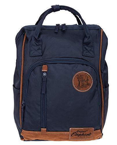 Elephant Rucksack Finn Tasche A4 Daypack Bürorucksack Damen Herren Freizeitrucksack 5072 + Schlüsseletui (Blue (Blau)) (Elephant Rucksack)