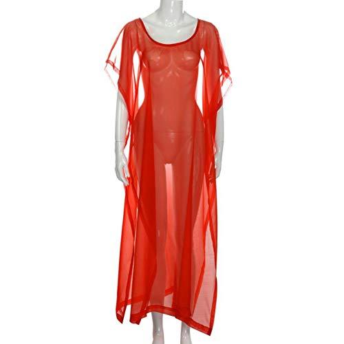 DRLVMO Kleid Neue Hochwertigen Silk Fashion Sexy Bikini Oansatz Badeanzug Strand Shirt Festes Kleid Frauen Belted Silk Dress