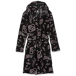 FREEGUN EG.FGNYC.RCFB.MZ Robe de Chambre, Noir, Ans (Taille Fabricant: 10) Garçon