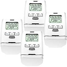 Set da 4 valvole elettroniche termostatiche termostato valvola termostato HT2000