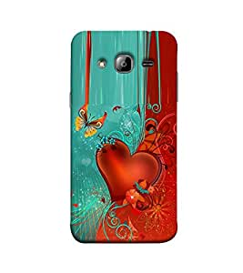 Fuson heart and butterfly designer theme Designer Back Case Cover forSamsung Galaxy J5 (2015) :: Samsung Galaxy J5 Duos (2015 Model) :: Samsung Galaxy J5 J500F :: Samsung Galaxy J5 J500Fn J500G J500Y J500M -3DQ-1026