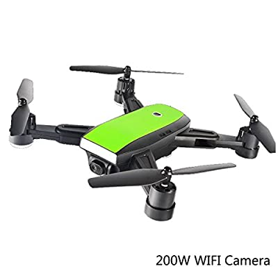 GPS RC Foldable Drone Quadcopter Wide-Angle 200W 170° Wide Angle HD WIFI Camera Altitude Hold Intelligent Battery Aircraft MINI DRONES,2Batteries from Zhangchunx Jiajuzhuangshidian