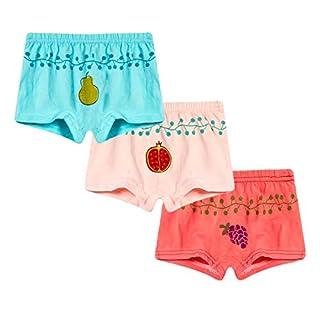 ACVIP Kids Toddler Underwear Underpants, Children Girls Boys Cotton Boxer Shorts Briefs (Pack of 3) (3-4 Years, Style C)