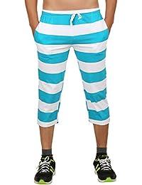Clifton Mens Bold Stripes Capri-Deep Aqua