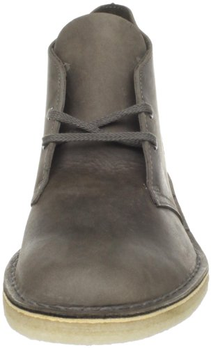 Clarks Mens Desert Boot in Black Suede Black