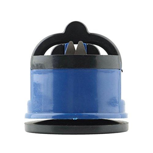 RcGoods l Messerschärfer - Kompakter Messerschleifer mit Saughalterung (Blau)