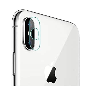 Porche 2.5D Anti-Scratch HD+ Flexible Clear Tempered Glass Back Camera Lens Protector for Apple iPhone Xs/X.